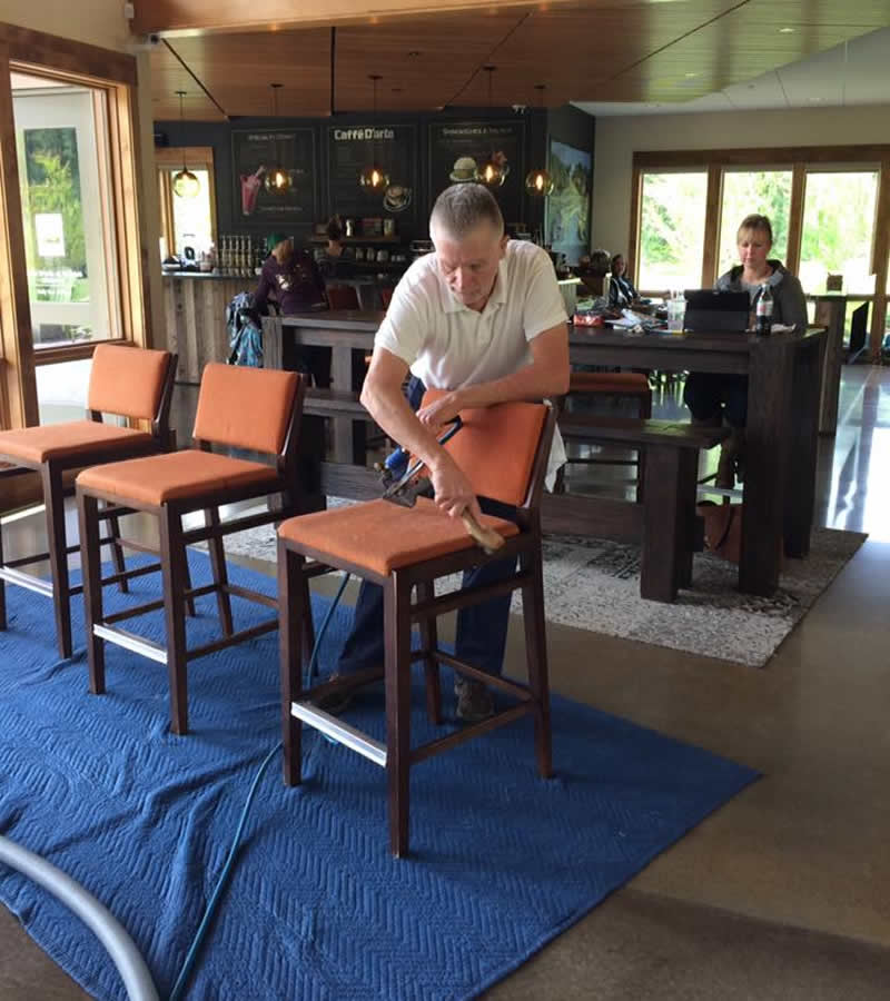 Cleaning bar stools